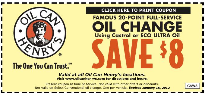 photo about Oil Can Henry Coupons Printable known as Henry coupon : Printable discount coupons for magic household